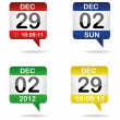 Set of calendars - Stock Vector