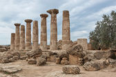 Agrigento, Valley of Temples, Ercole temple, Sicily, Italy — Stock Photo