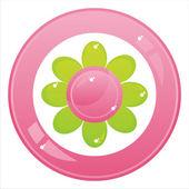 Botón de flor aislado en blanco — Vector de stock