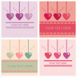 Cute st. valentine's day cards — Stok Vektör