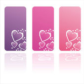 Colorful st. valentine's day frames — Stock Vector