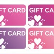 St. valentine's day gift cards — Stock Vector