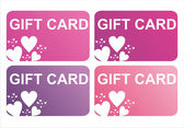 St. valentine's day gift cards — Vector de stock