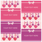 Cute st. valentine's day cards — Vector de stock