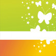 Abstract butterflies background — Stock Vector