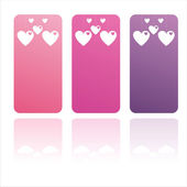 Colorful st. valentine's day banners — Stock Vector