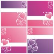 Colorful st. valentine's day backgrounds — Stock Vector