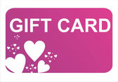 St. valentine's day gift card — Stockvektor