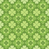 Clovers pattern — Stock Vector