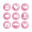 Pink st. valentine's day signs — Stock Vector