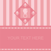 Pink baby pacifiers frame — Stock Vector