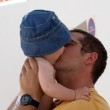 Father and baby son — Stock Photo