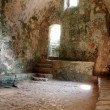 Stock Photo: Stackpole church ruins interior