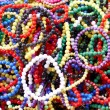 A basket full of colourful beads — Stock Photo