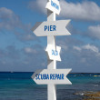 Stock Photo: Multi directional sign post