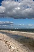 荒凉的海滩上佛罗里达州 — 图库照片