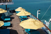 The deck on a cruise ship — Stock Photo