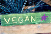 Vegan sign — Stock Photo
