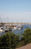 A marina in Wales — Stock Photo