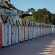 A row of beach huts — Stock Photo #9629294