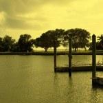 A boating lake — Stock Photo