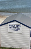 Beach huts for hire — Stock Photo