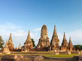 Pagoda and blue sky at Wat Phra Sri Sanphet Temple, Ayutthaya, T — Stock Photo