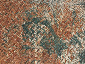 Texture of old rusty metal plate — Stock Photo