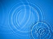 蓝圈水波纹背景 — 图库照片