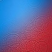 Blue and red circle water ripple background — Stock Photo