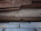 Old wood on concrete background for web — Stock Photo