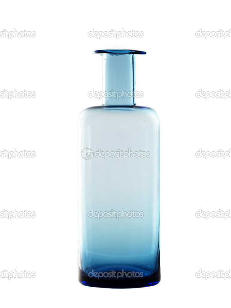 Blue bottle isolated on white background — Stock Photo #9860041