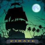 Pirate ship- 3 — Stock Vector