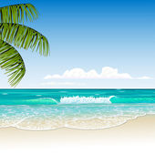 Beach- — Stock Vector