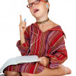 Stock Photo: Boy with copy-book