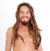 Yogi på vita — Stockfoto