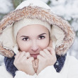 Winter girl — Stock Photo