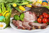 Traditional easter roasted pork — Stock Photo