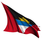 Antigua and Barbuda flag render illustration — Stock Photo