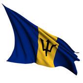 Bandeira de barbados processar ilustração — Foto Stock