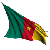 Cameroon flag render illustration — Stock Photo