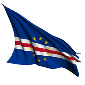 Cape Verde flag render illustration — Stock Photo