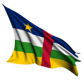 Central African Republic flag render illustration — Stock Photo