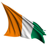 Ivory Coast flag render illustration — Stock Photo