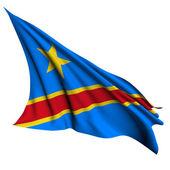 Flaga demokratycznej republiki konga renderowania ilustracja — Zdjęcie stockowe
