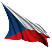 Czech Republic flag render illustration — Stock Photo