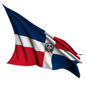 Dominican Republic flag render illustration — Stock Photo