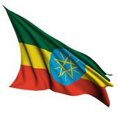 Etiopien flagga återge illustration — Stockfoto