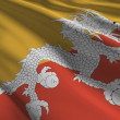 Royalty-Free Stock Photo: Bhutan flag