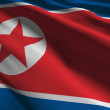 North Korea flag — Stock Photo #8960715